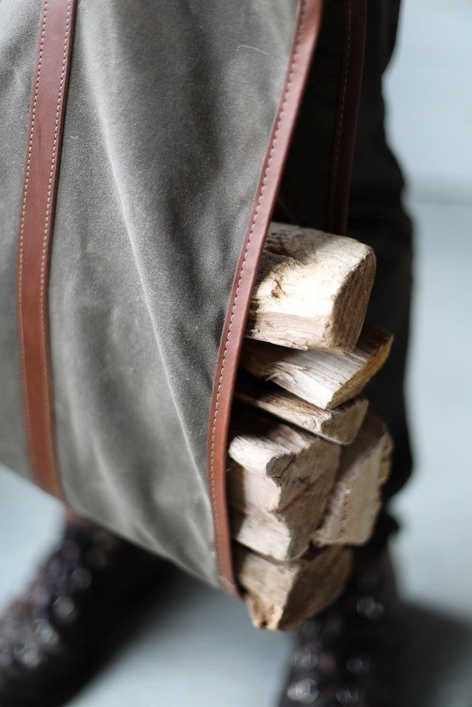 Waxed Canvas Log Carrier - Forest