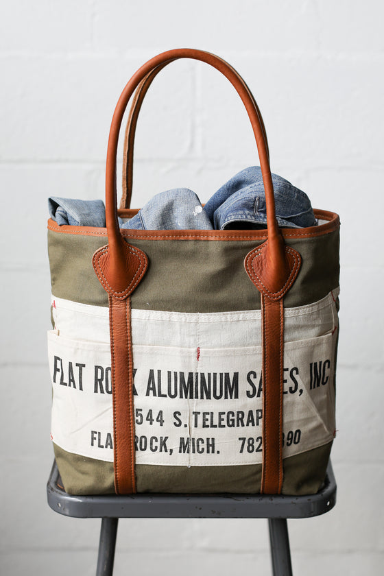 1940's era Salvaged Work Apron Tote Bag