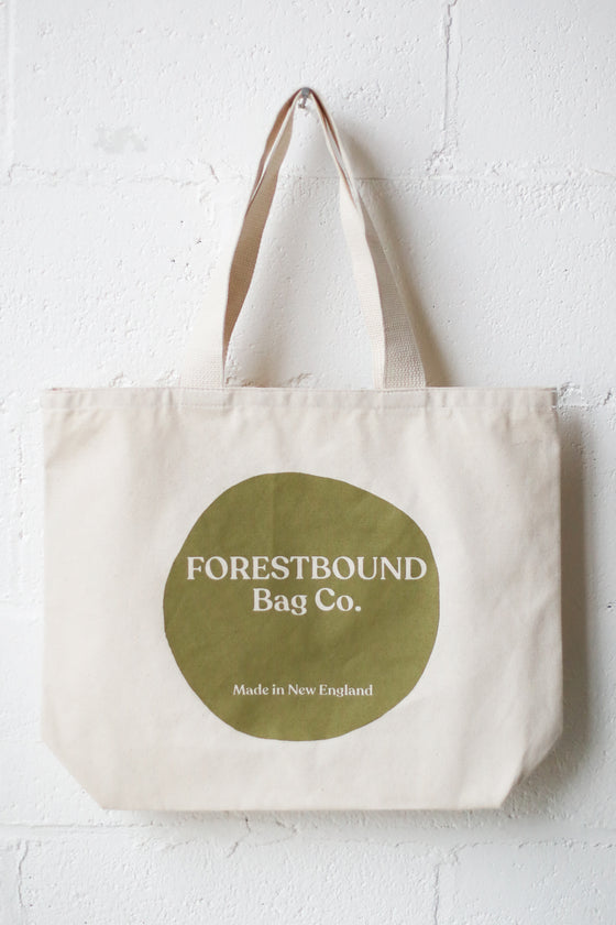 Forestbound Logo Tote Bag - Olive Green