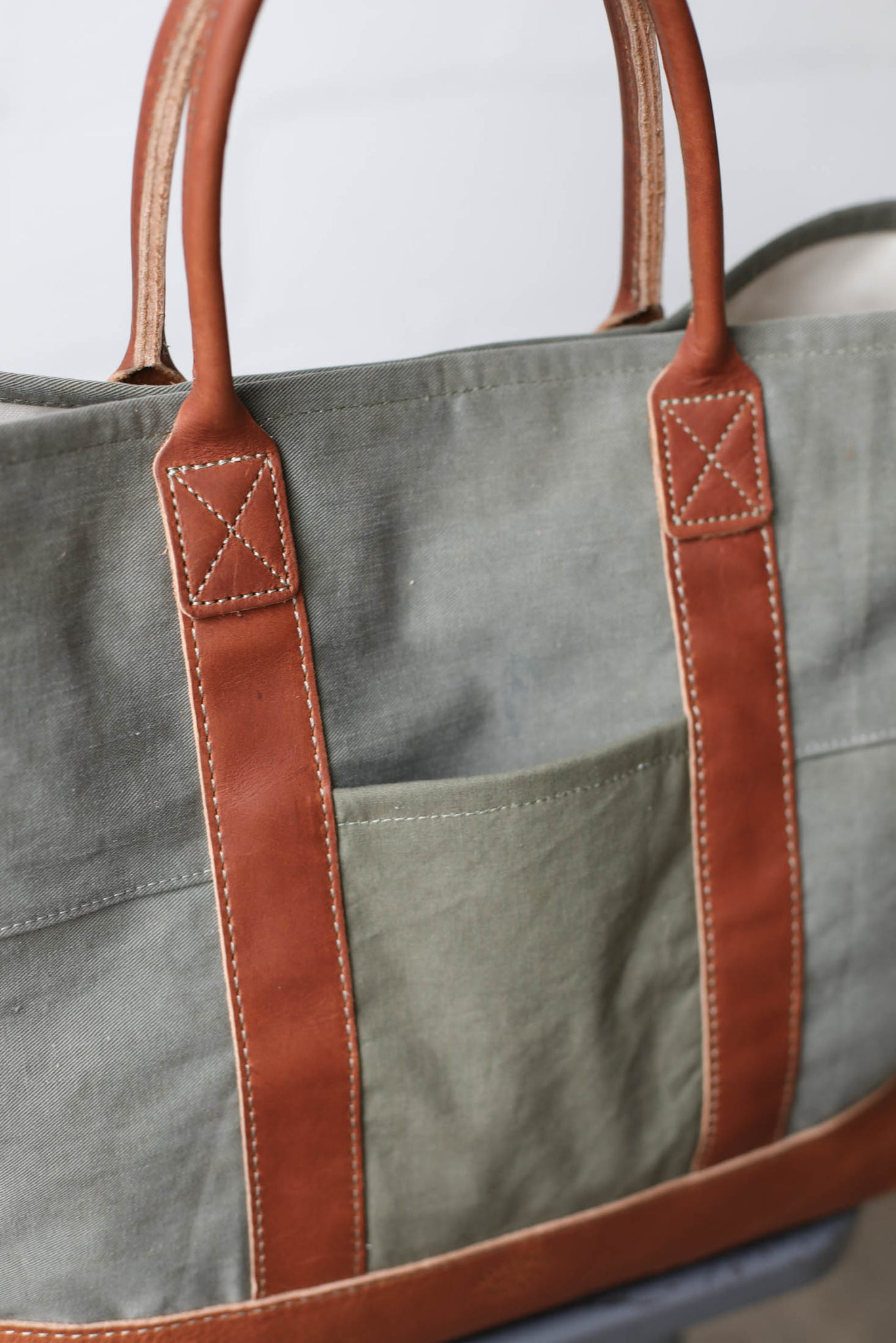 WWII era Salvaged Canvas Tote Bag