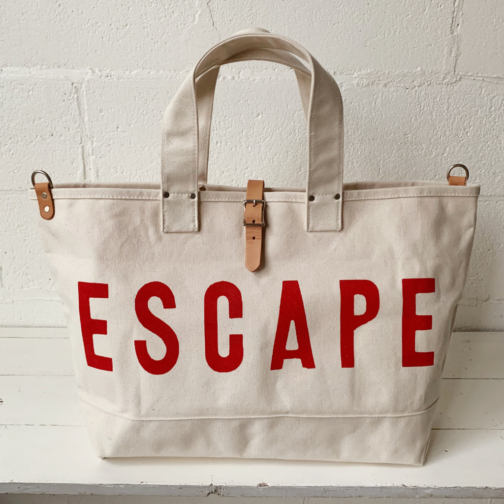 ESCAPE Cargo Bag - Red Print