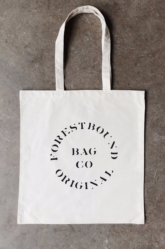 FORESTBOUND Bag Co. Cotton Tote Bag - White