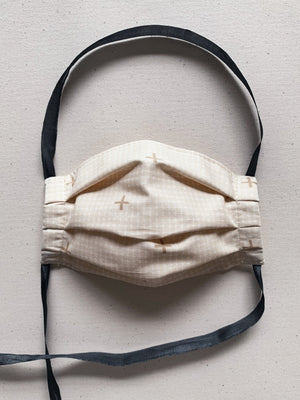 Fabric Face Mask - Beige Check