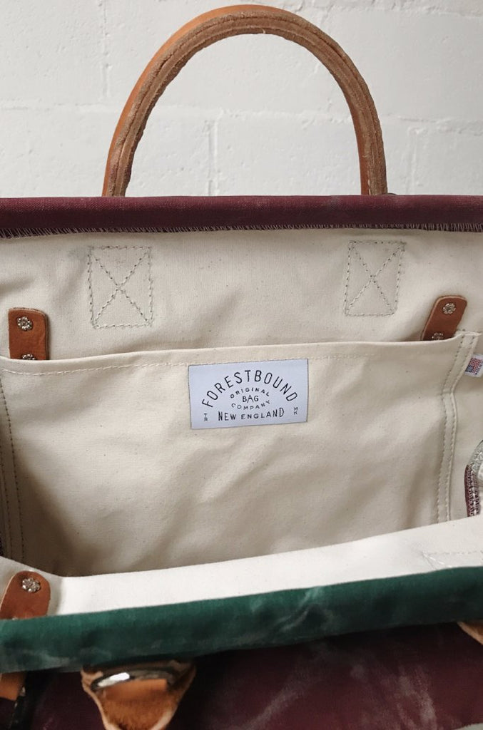 1950's era Salvaged Canvas Carryall - Sample