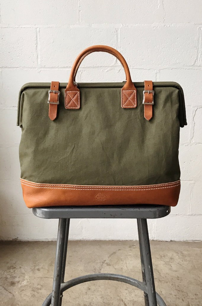 WWII era Salvaged Canvas Carryall