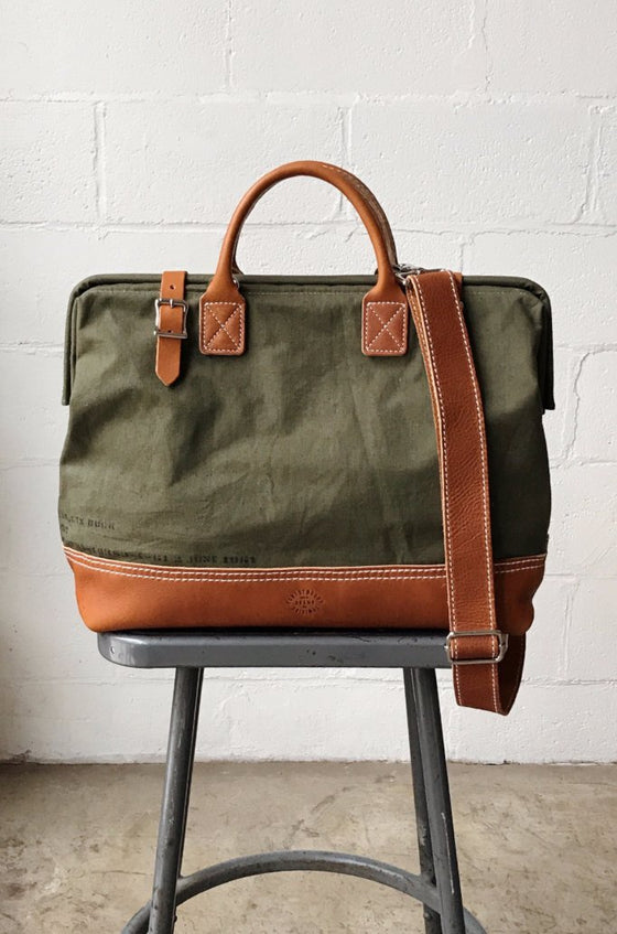1960's era Salvaged Canvas Carryall