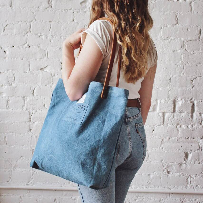 Forestbound X Folk Fibers Indigo Dyed Tote Bag