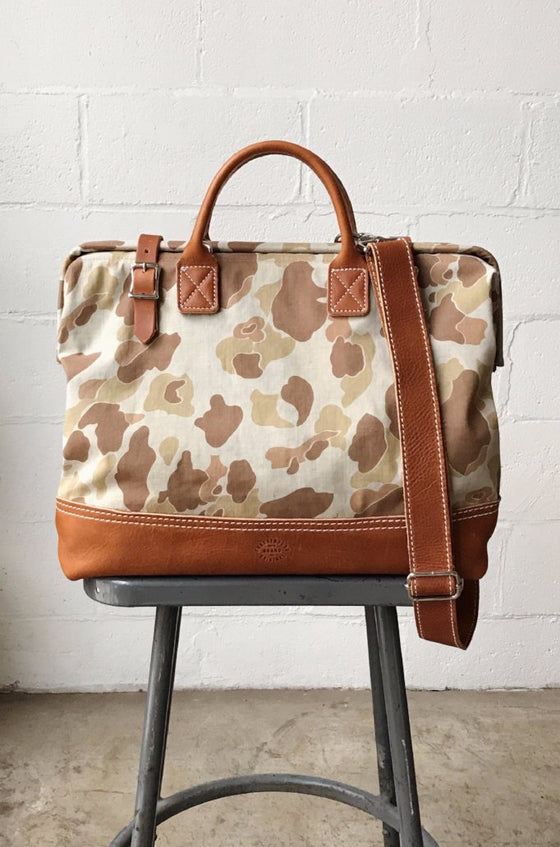 1940's era Salvaged Camo Carryall