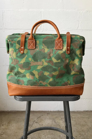 1950's era Salvaged Camo Carryall