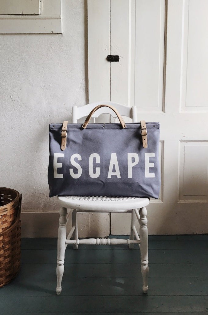 Forestbound ESCAPE Canvas Utility Bag in Summer Sky