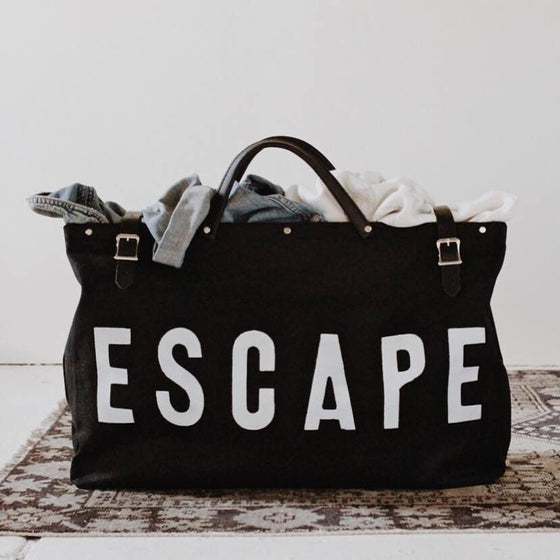 ESCAPE Canvas Utility Bag in Black
