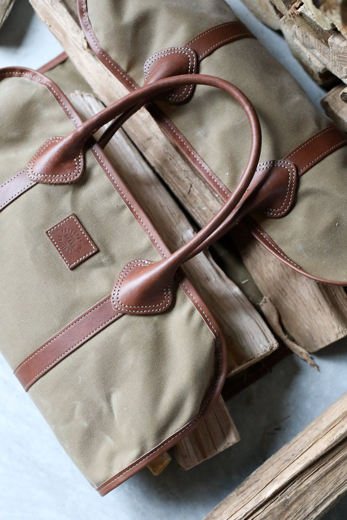 Waxed Canvas Log Carrier - Khaki