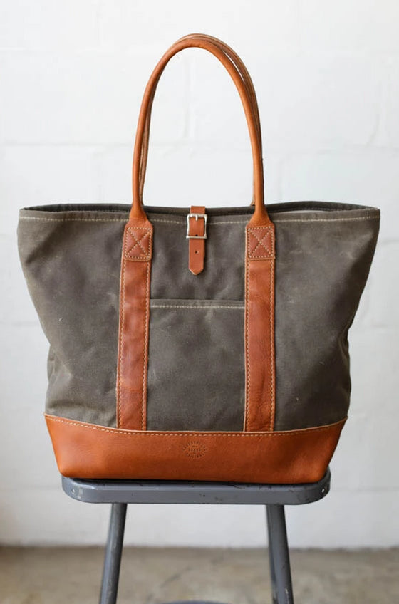 Waxed Canvas Tote Bag No. 2