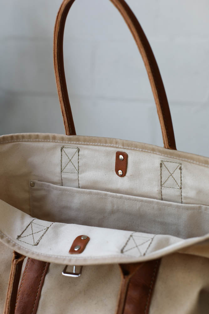 Waxed Canvas Tote Bag No. 3