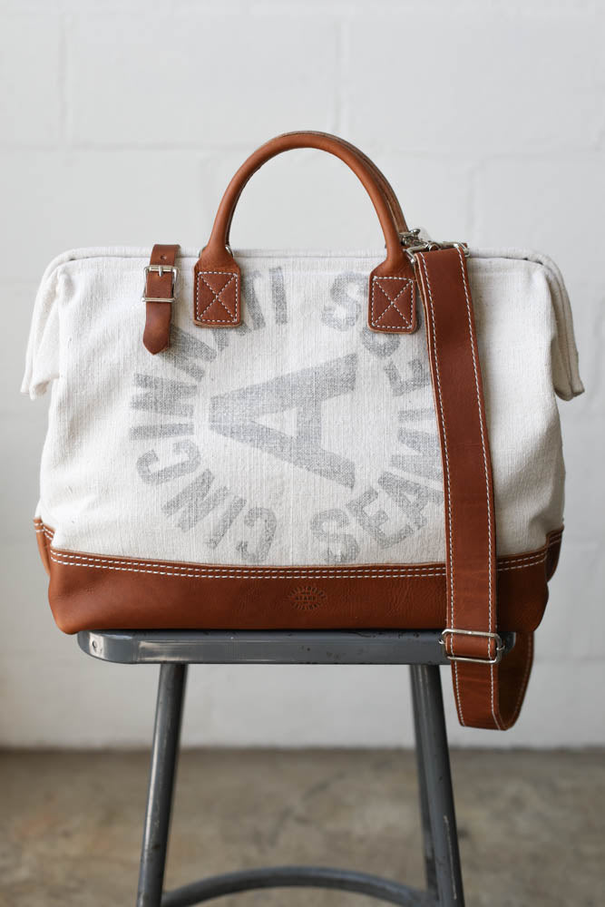 1950's era Feedsack Carryall