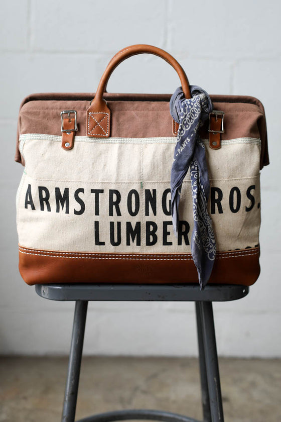1940's era Canvas & Lumber Apron Carryall