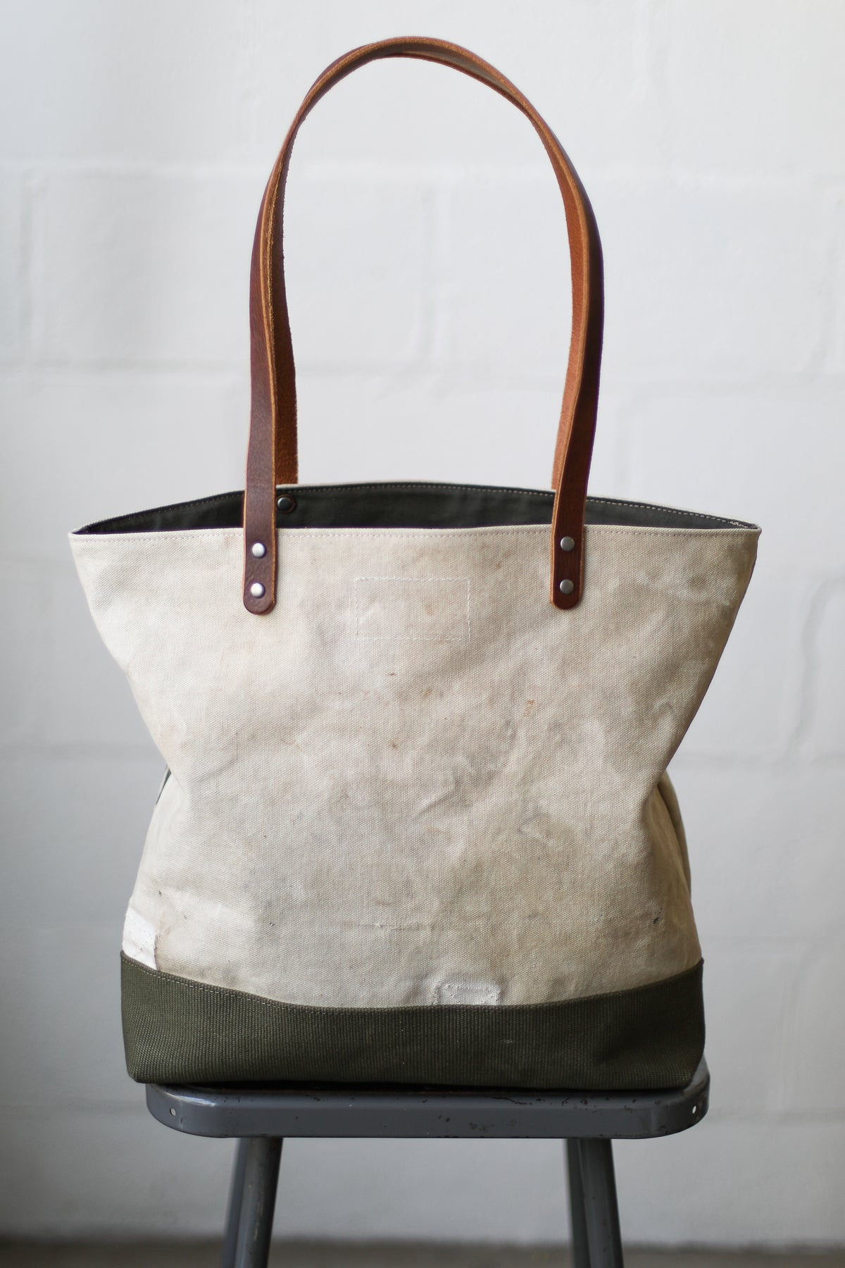 1940's era Salvaged USN Canvas Tote Bag