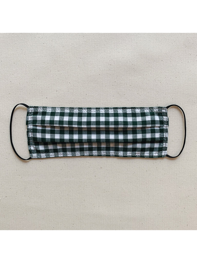 Fabric Face Mask - Olive Gingham