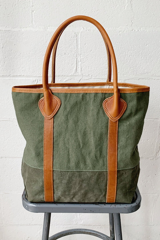 1940's era Salvaged Canvas Duffle Bag