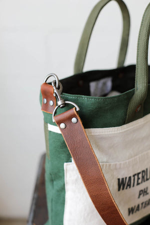 1950's era Salvaged Canvas & Work Apron Tote Bag