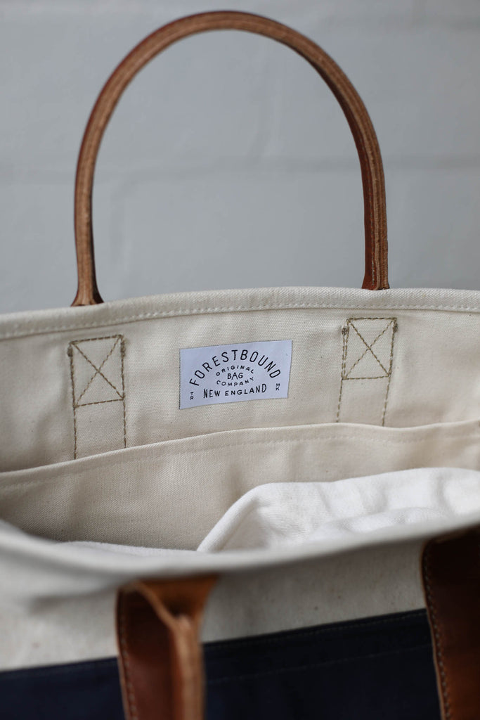 WWII era Salvaged USN Canvas Tote Bag