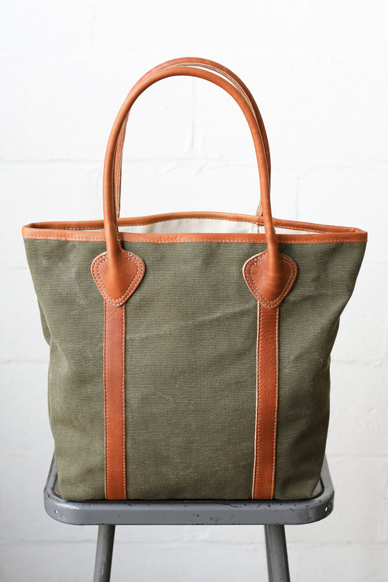 1930's era Salvaged Military Canvas Tote Bag