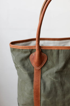 WWII era Salvaged Canvas Passenger Tote