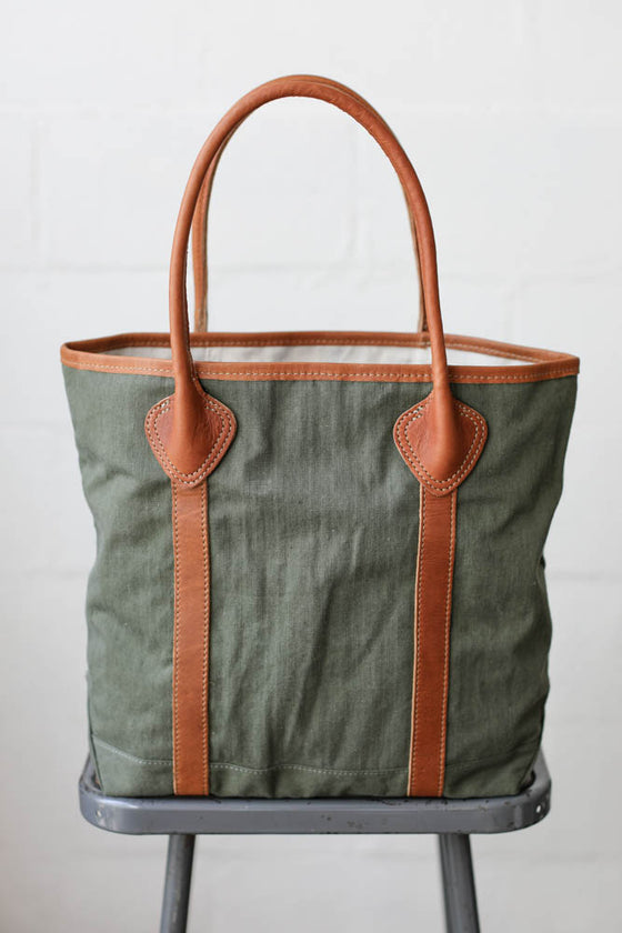WWII era Salvaged Military Canvas Tote Bag