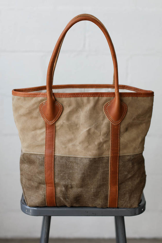 1940's era Salvaged Canvas Passenger Tote