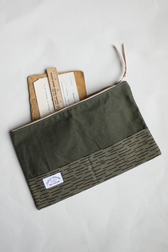 WWII era Salvaged Canvas & Camo Utility Pouch