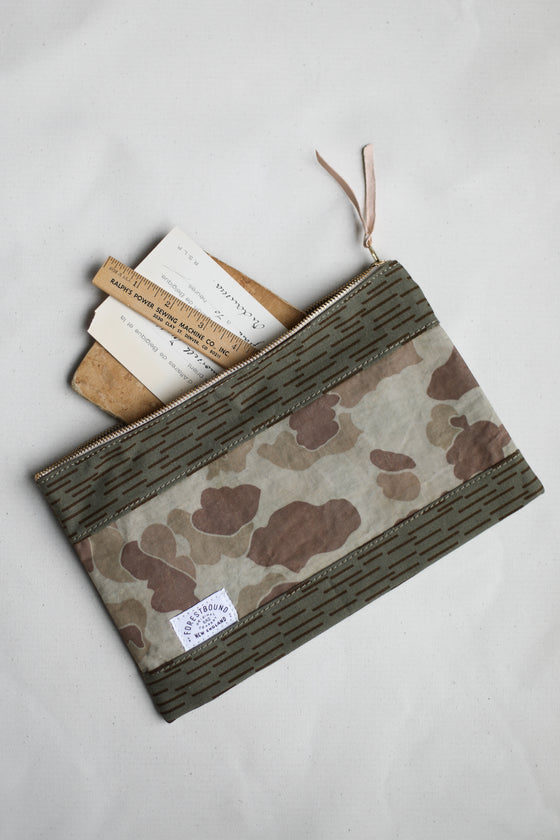 1950's era Salvaged Camo Utility Pouch