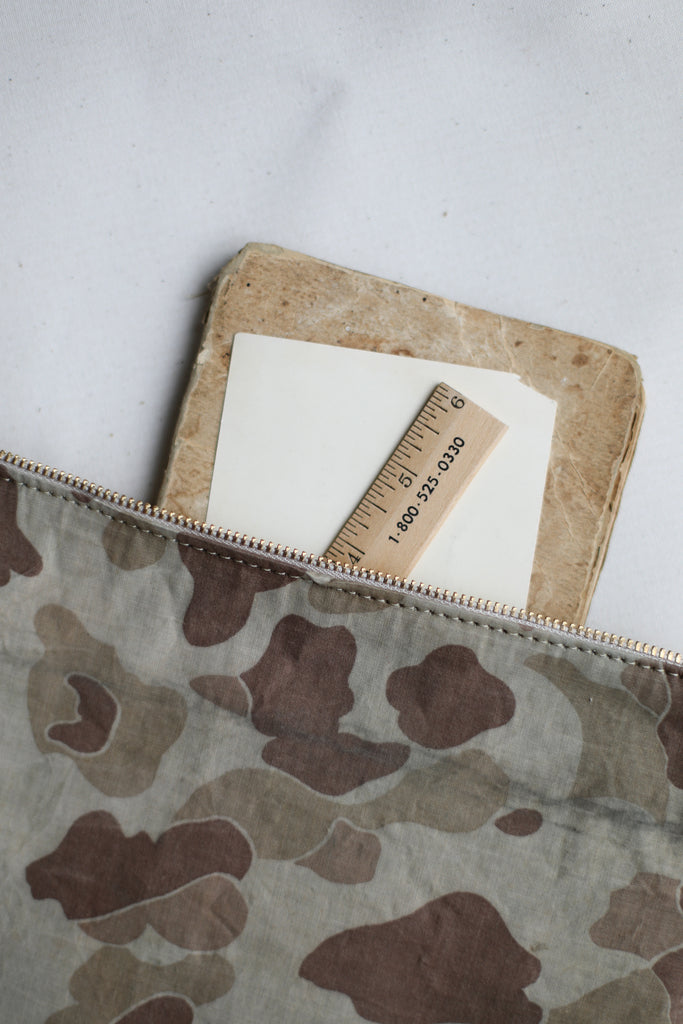 1950's era Salvaged Canvas & Camo Utility Pouch