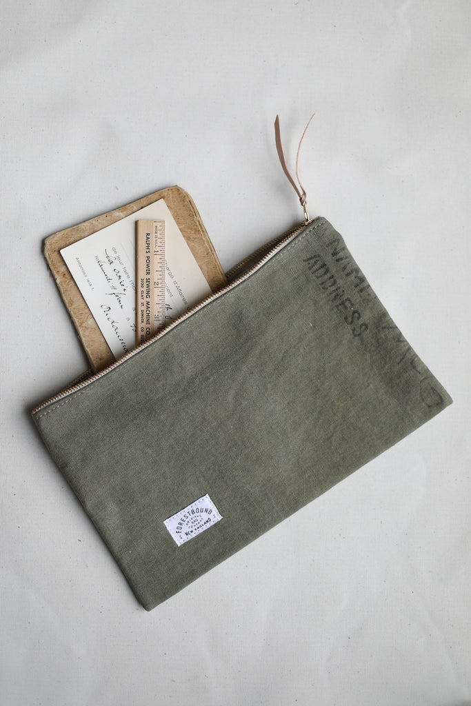 1950's era Salvaged Canvas Utility Pouch