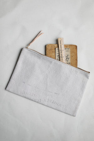 1940's era Salvaged Feedsack Utility Pouch