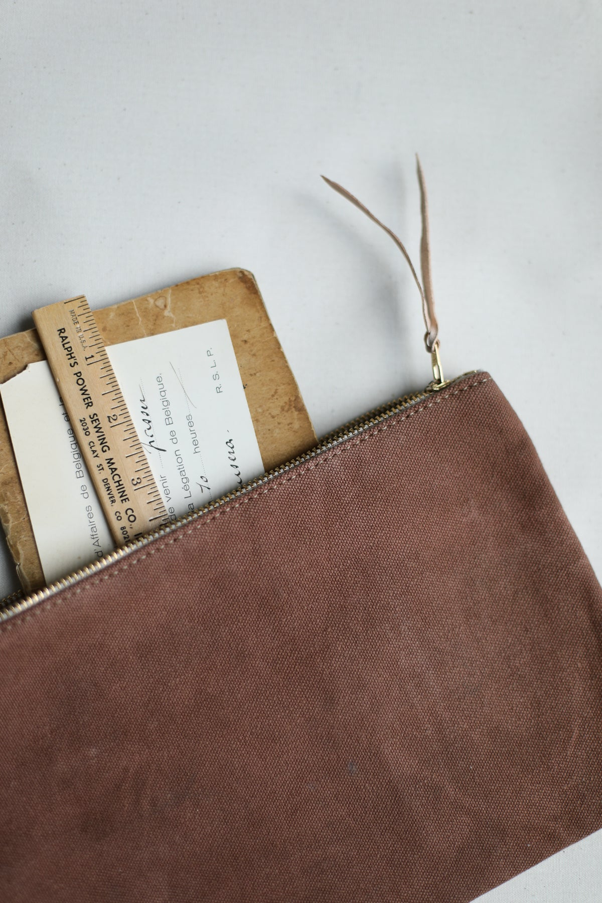 1950's era Salvaged Mail Bag Canvas Utility Pouch
