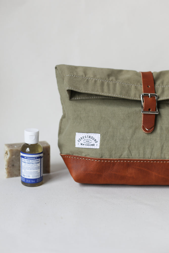 Roll Top Dopp Kit - Salvaged Khaki