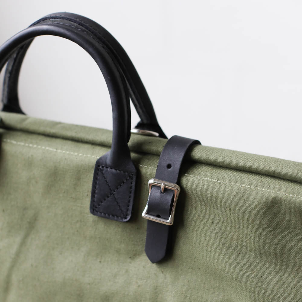 WWII era Salvaged Canvas Carryall - Sample