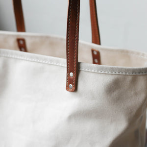 Canvas and Leather Tote Bag - Sample