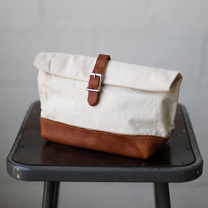 Roll Top Dopp Kit - Natural