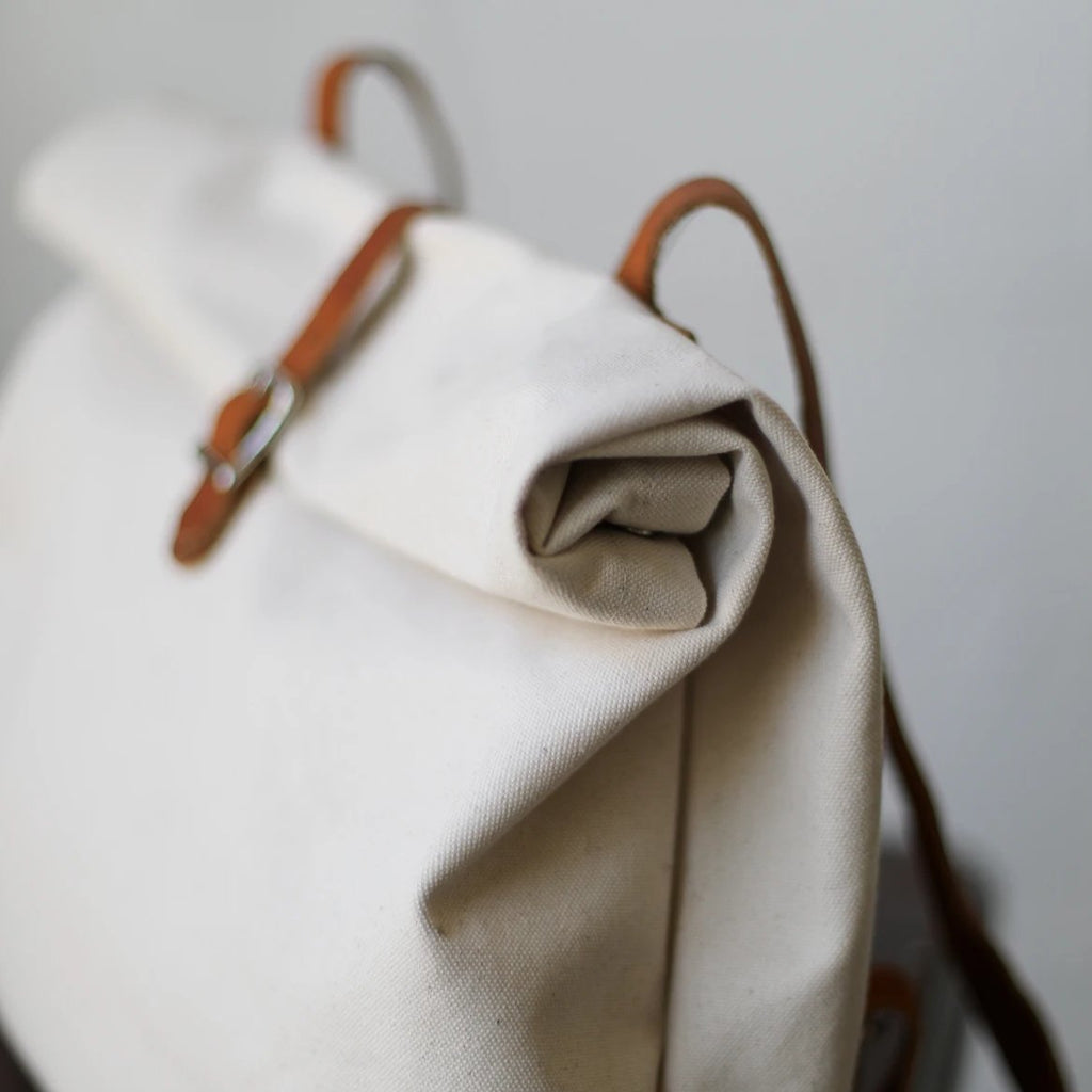 Large Canvas Roll Top Backpack