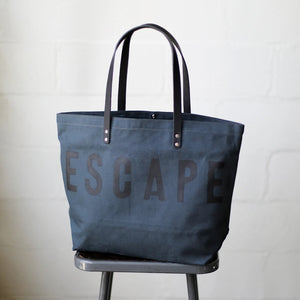 ESCAPE Canvas Tote Bag in Midnight
