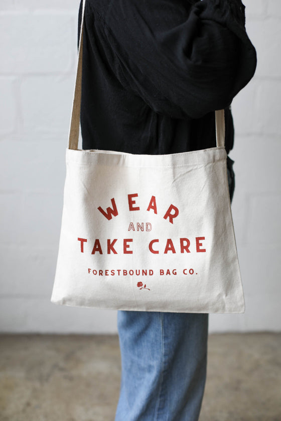Wear & Take Care Canvas Side Bag