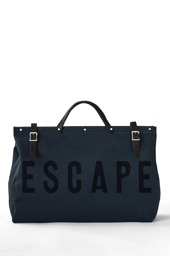 LIMITED EDITION - ESCAPE Canvas Utility Bag in Midnight