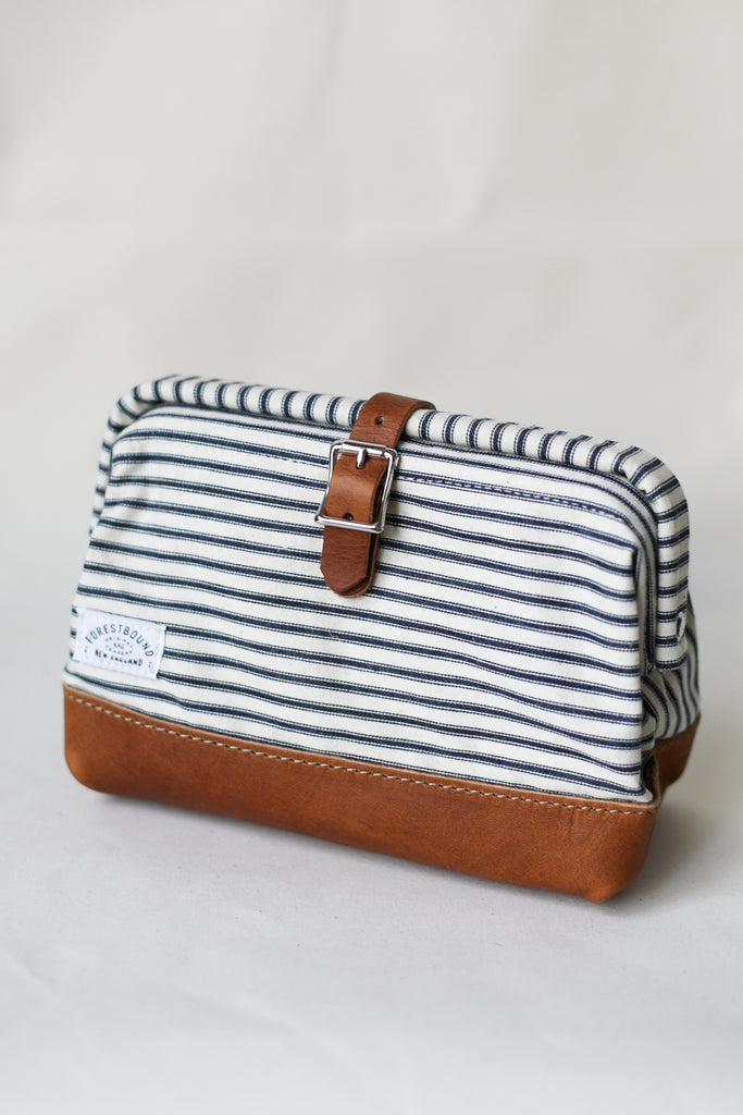 Classic Dopp Kit - Salvaged Ticking