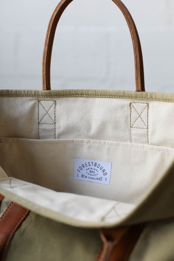 WWII era Salaged Canvas Tote Bag