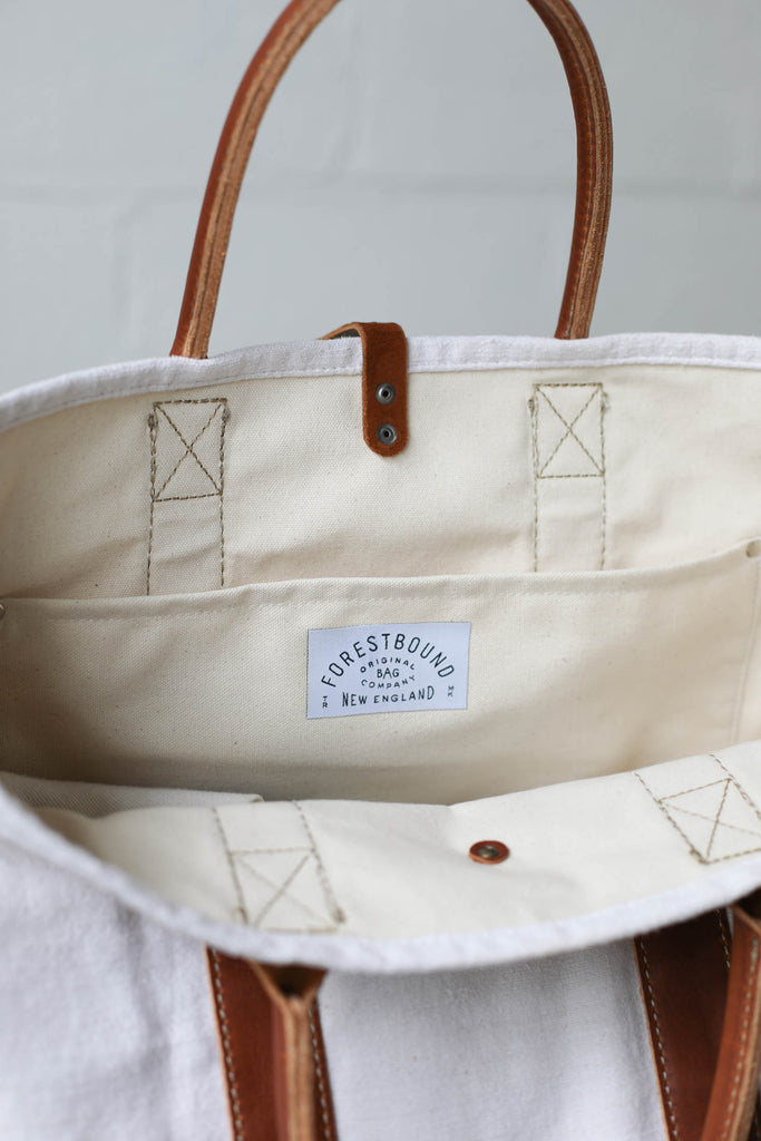 1950's era Salvaged Linen Tote Bag