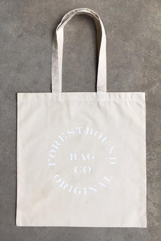 FORESTBOUND Bag Co Cotton Tote - White on White
