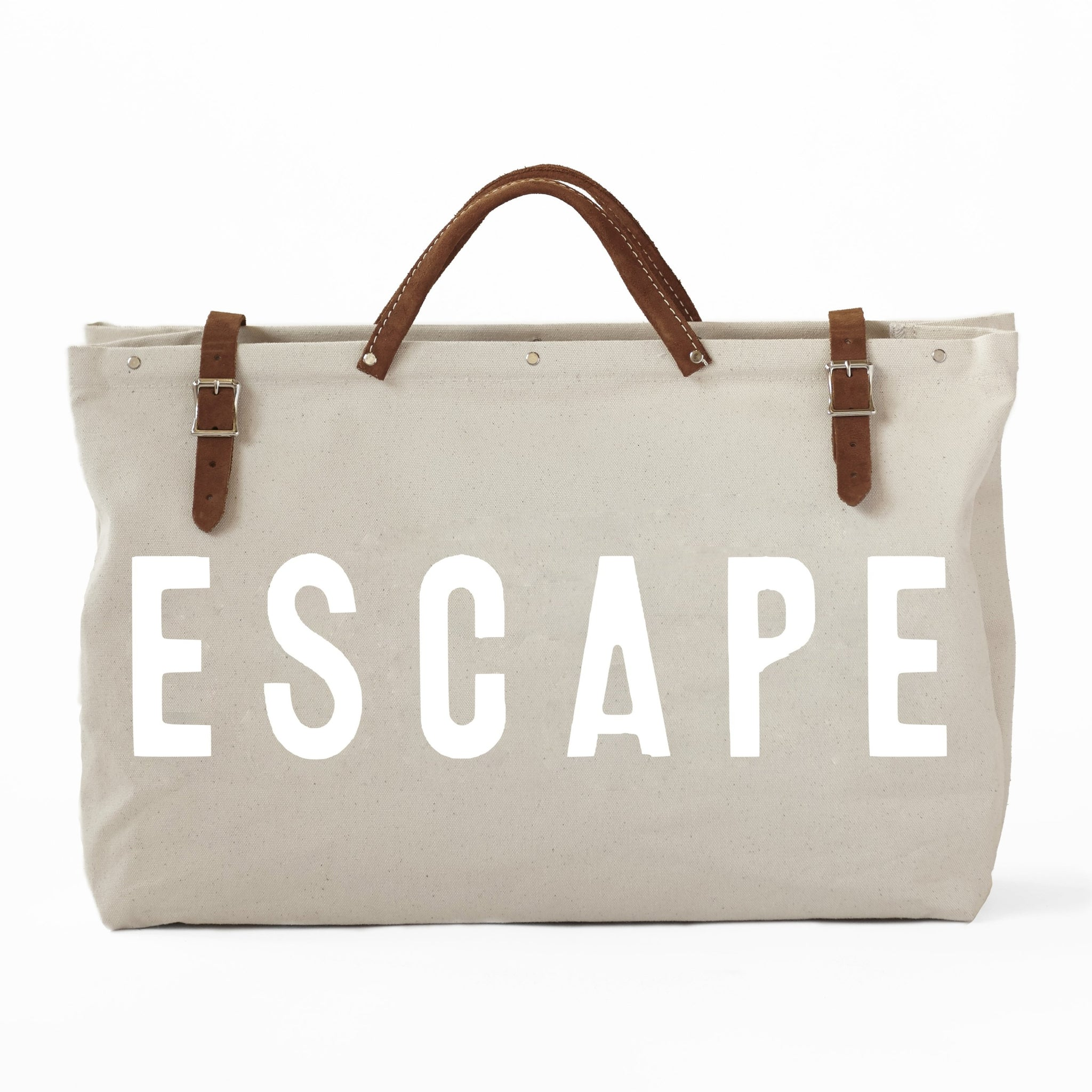 LIMITED EDITION - Forestbound ESCAPE Canvas Utility Bag, White on White