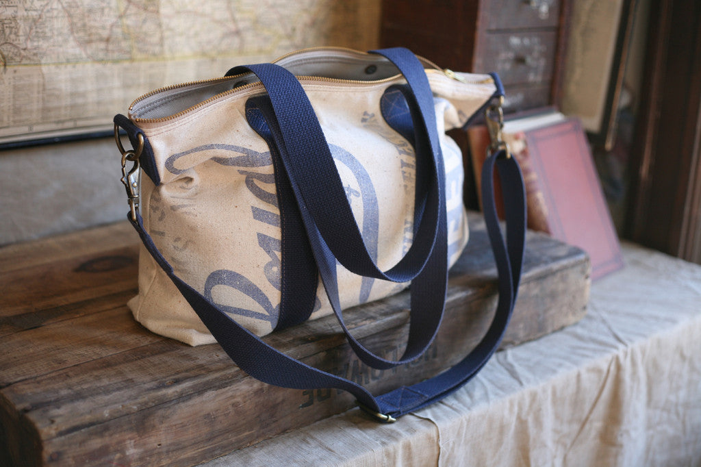 1940's era Feedsack Weekend Bag - SOLD