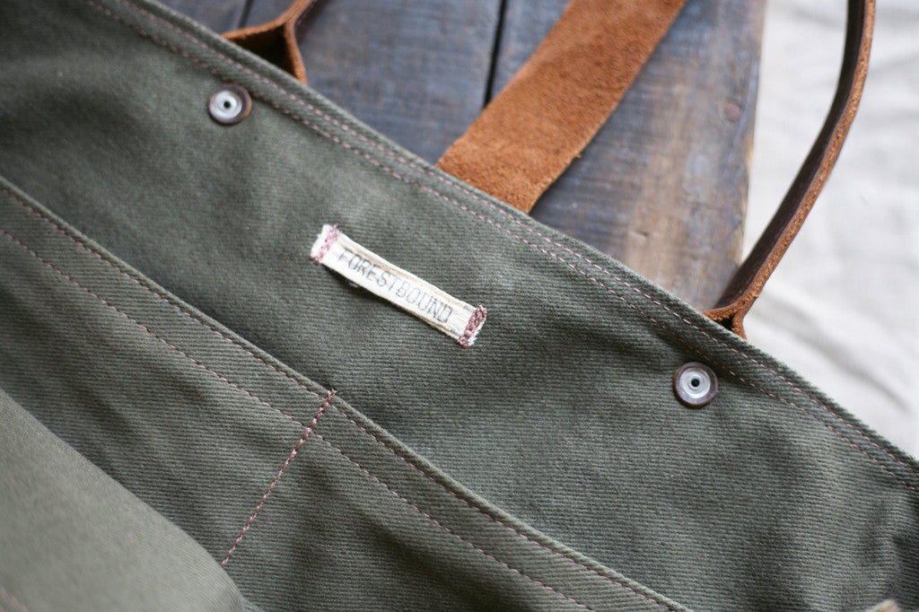 WWII era Canvas & Denim Carryall - SOLD